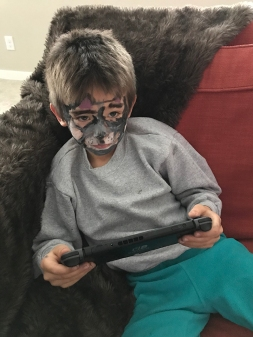 The wolf playing his Switch.
